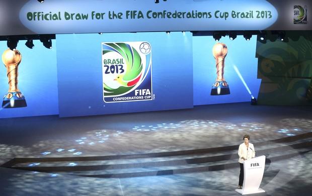 Dilma, Sorteio copa das Confederações, AP (Foto: Agência AP)