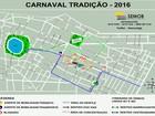 Trânsito é alterado para desfiles do Carnaval Tradição de João Pessoa