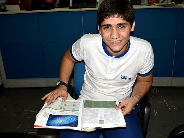 Estudante foi premiado com medalha de ouro na Olímpiada (Foto: Divulgação/Fundação Nokia)