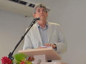 Governador da PB, Ricardo Coutinho, na inauguração da Acadepol (Foto: Jhonathan Oliveira/G1)