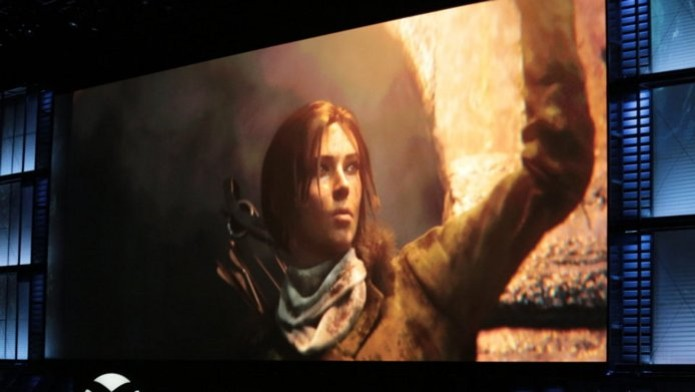 Rise of the Tomb Raider foi anunciado durante a conferência da Microsoft na E3. (Foto: Reprodução/Polygon) (Foto: Rise of the Tomb Raider foi anunciado durante a conferência da Microsoft na E3. (Foto: Reprodução/Polygon))
