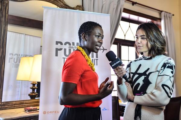 Naisha Bradley conversa sobre liderança feminina com a editora-chefe Laura Ancona (Foto: Marcia Tavares)
