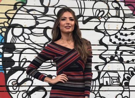 Patrícia Poeta brilha com look despojado no 'É de Casa'