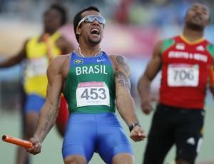 Pan atletismo revezamento 4x100m Bruno Lins (Foto: AP)