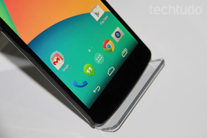 Transparência dos botões padrão do Android no Nexus 5 (Foto: Isadora Díaz/TechTudo)