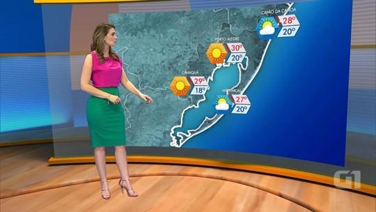 Sexta-feira deve ter predomínio de sol e variação de temperaturas