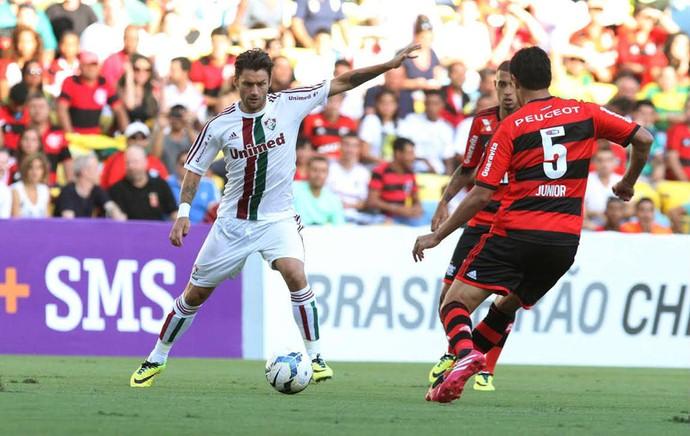 Rafael Sobis, Fluminense x Flamengo (Foto: Ricardo Ayres/Photocamera)