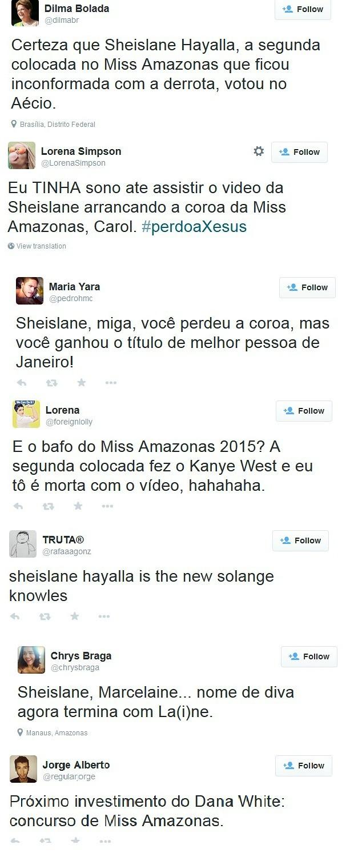 'Tuítes' fizeram piada com caso; até fake da presidente Dilma Rouseff comentou  (Foto: Reprodução)