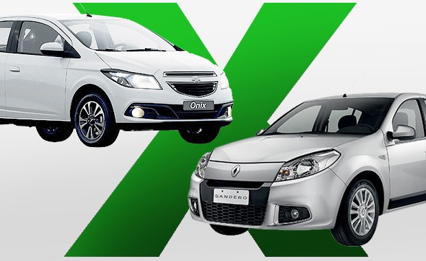 Chevrolet Onix e Renault Sandero: Qual comprar (Foto: Autoesporte)