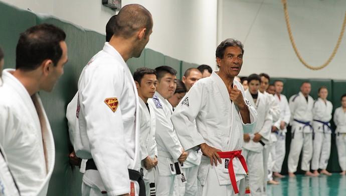 Rorion Gracie, jiu-jitsu, academia, aula (Foto: Arquivo Pessoal)