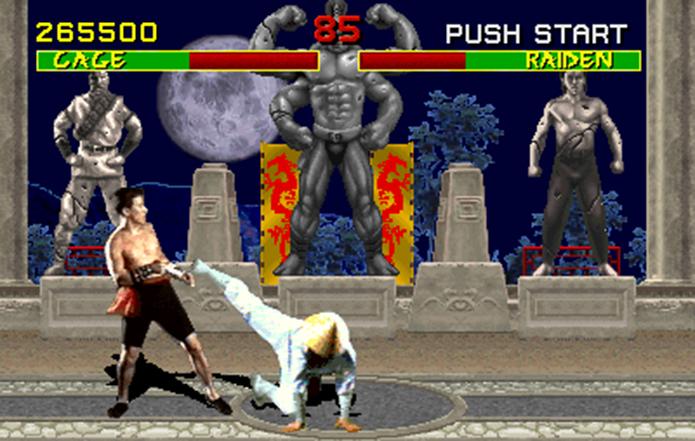Primeiro game da série já trazia batalhas sangrentas e divertidas (Foto: Reprodução)