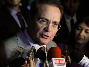 O presidente do Senado, Renan Calheiros (PMDB-AL), durante entrevista em 29 de outubro (Foto: Moreira Mariz / Agência Senado)