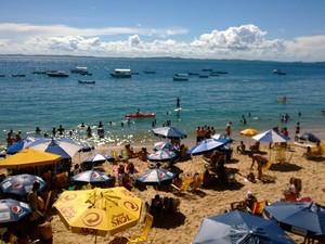 praia (Foto: Jairo Gonçalves/G1 Bahia)