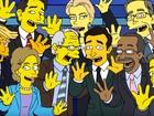 Candidatos à presidência dos EUA cantam e brigam em 'Os Simpsons'