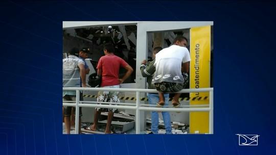 Criminosos explodem agência bancária em Paraibano, MA