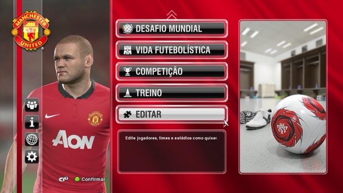 Pro Evolution Soccer 2014  como editar jogadores no game (Foto  Reprodução  Murilo 96d6f1f9fd855