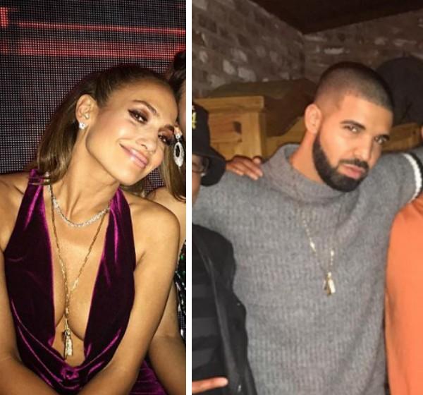 Jennifer Lopez e Drake com a mesma corrente (Foto: Instagram)