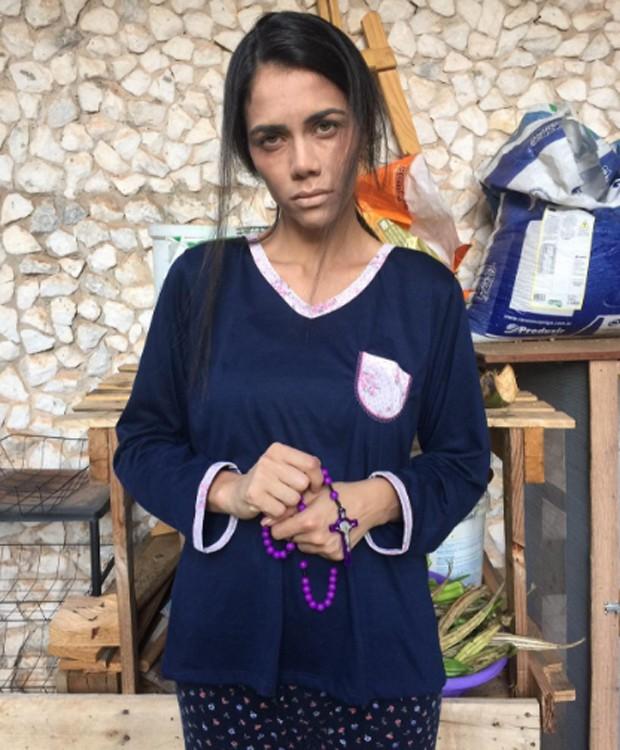 Daniela Albuquerque caracterizada para papel em curta-metragem (Foto: Reprodução/Instagram)