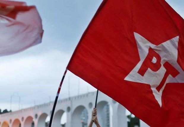 Bandeira do PT (Foto: Reprodução/Facebook)