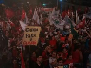 Manifestaçaõ no Dragão do Mar (Foto: Andre Teixeira/G1)
