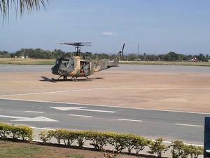 FAB envia helicoptéros para levar corpos de vítimas de acidente aéreo (Foto: Raphaela Potter/TV Morena)