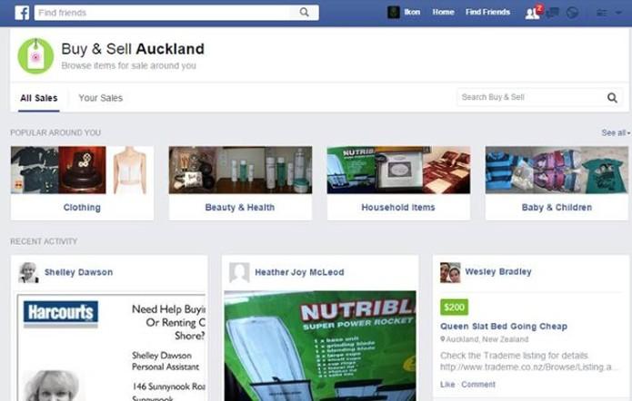 Teste do Facebook permite comprar e vender produtos na rede social (Foto: Reprodução/Social Times)