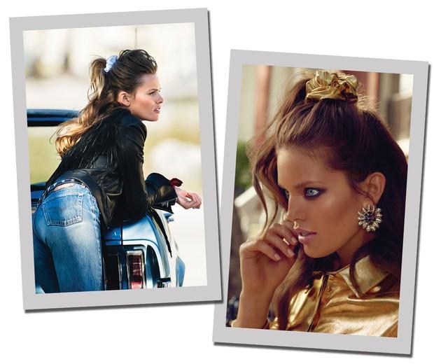 Scrunchie (Foto: Vogue Paris e Vogue Espanha)