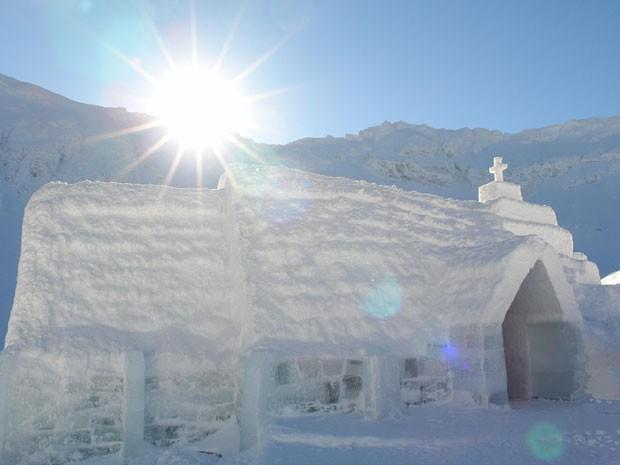 Hotel de gelo na Romênia (Foto: Divulgação)