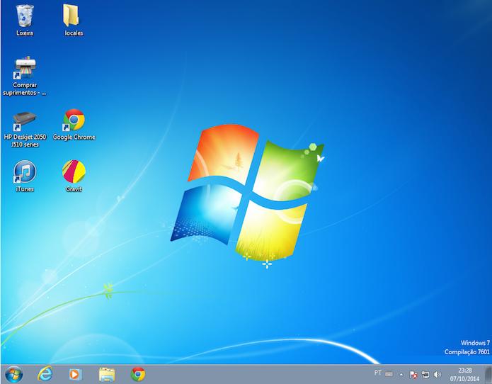 Windows 7: sucessor e salvador do Vista (Foto: Reprodução/Edivaldo Brito)