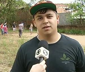 Morador Bairro de Fátima - Zé do Bairro (Foto: reprodução RJTV 1ª Edição)