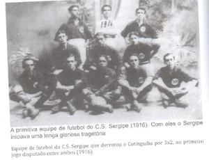 """Sergipe 106 anos (Foto: Livro """"Ahistória do futebol sergipano"""")"""