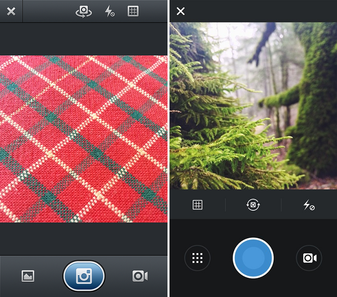 Tela de fotografia mudou no Instagram (Foto: Thiago Barros/Reprodução)