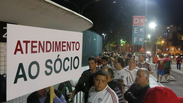 fluminense fila socios maracanã (Foto: Edgard Maciel de Sá)