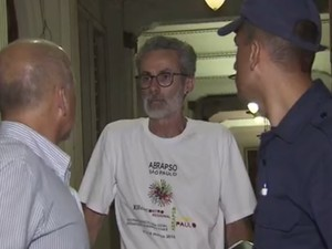 Flávio Saraiva, presidente do Sindicato dos Servidores Públicos de Santos (Foto: Reprodução/TV Tribuna)