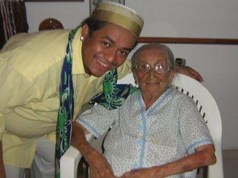 Araripe Coutinho recorda momentos com Dona Canô (Foto: Arquivo Pessoal)