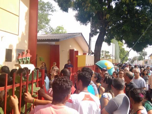 Houve confusão na eleição para escolha de conselheiros tutelares (Foto: Luiz Gonzaga/ TVCA)