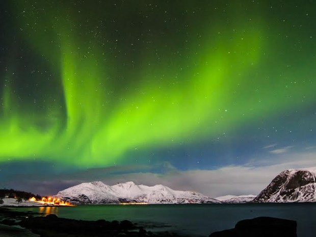 Fotógrafo capixaba registra Aurora Boeral na Noruega (Foto: Tadeu Bianconi / Mosaico Imagens)