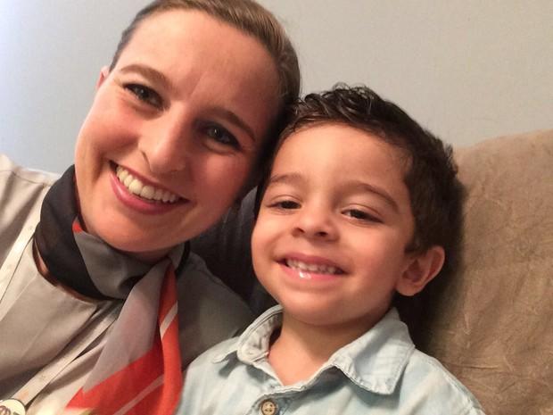 Fabiane é mãe do Arthur, de 2 anos (Foto: Arquivo pessoal)