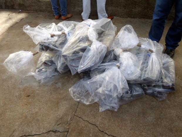Droga foi incinerada em uma caldeira na manhã desta quinta-feira (19) (Foto: Polícia Civil/Cedida)
