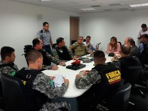 Atuação da Força Nacional foi definida em reunião com a Secretaria de Segurança do RN (Foto: Divulgação/Sesed-RN)
