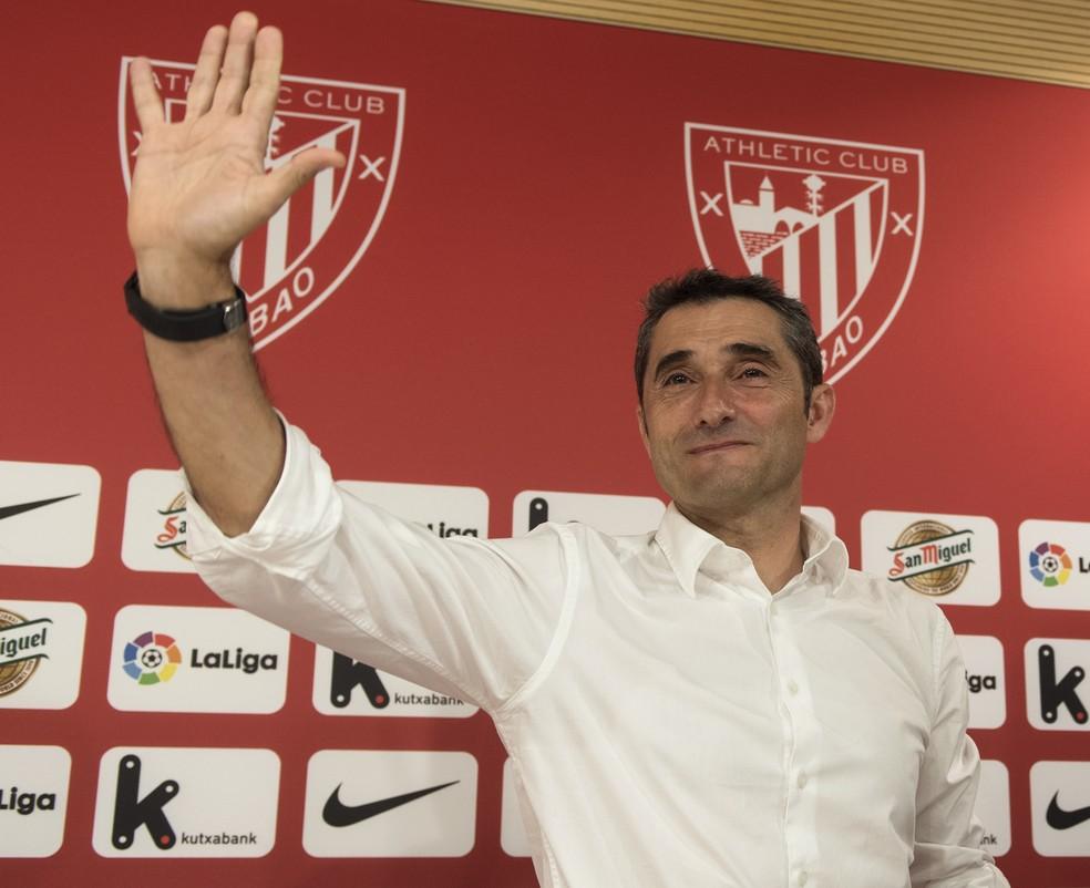 Ernesto Valverde deixou o Athletic Bilbao após quatro temporadas de bons resultados (Foto: AFP)