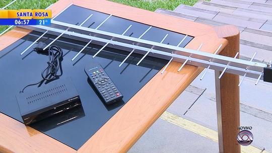 Famílias cadastradas em programas sociais receberão kits de TV digital