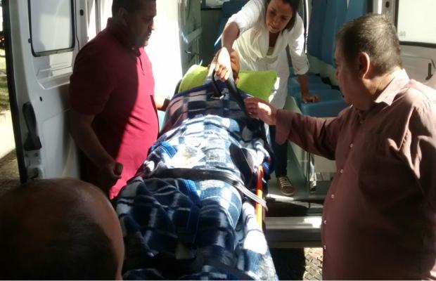 Motorista que dirigia o carro em que Crisitiano Araújo estava está internado no IOG Goiás Goiânia (Foto: Táliton Andrade/G1)