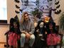 Dani Souza posa com os filhos vestidos para o Halloween