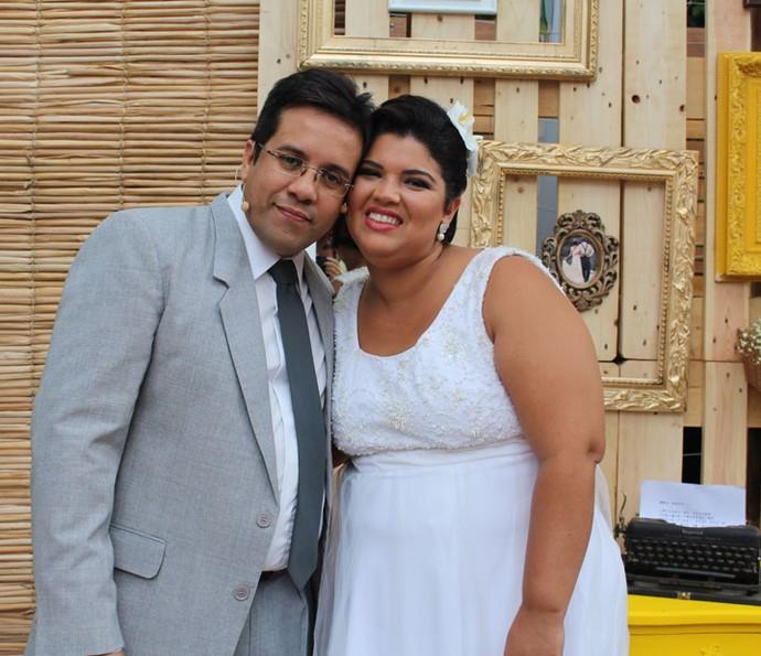 Enfim casados! (Foto: Maria Eduarda/Gshow)