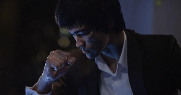 Comercial usou dublê e recursos de computação gráfica para mostrar Bruce Lee vivo (Foto: Divulgação/Johnnie Walker)