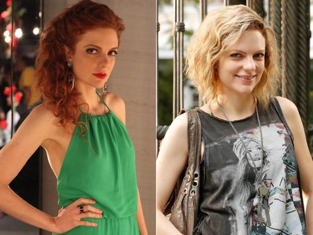 Confira o antes e depois de Maria Eduarda após pintar o cabelo de loiro (Foto: Pedro Curi e Felipe Monteiro/Gshow)