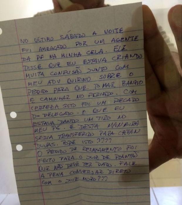 Carta foi divulgada pelos advogados de Paulo Roberto Costa (Foto: Cassio Quirino/Arquivo pessoal)