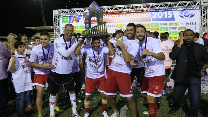 Festa título CRB (Foto: Ailton Cruz/Gazeta de Alagoas)