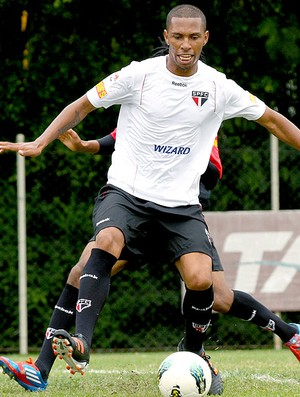 Paulo Miranda no treino do São Paulo (Foto: Luiz Pires / VIPCOMM)